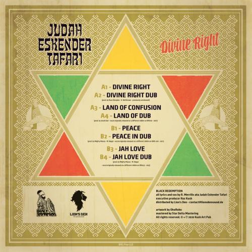 BRLP001LD - Judah Eskender Tafari - DIVINE RIGHT